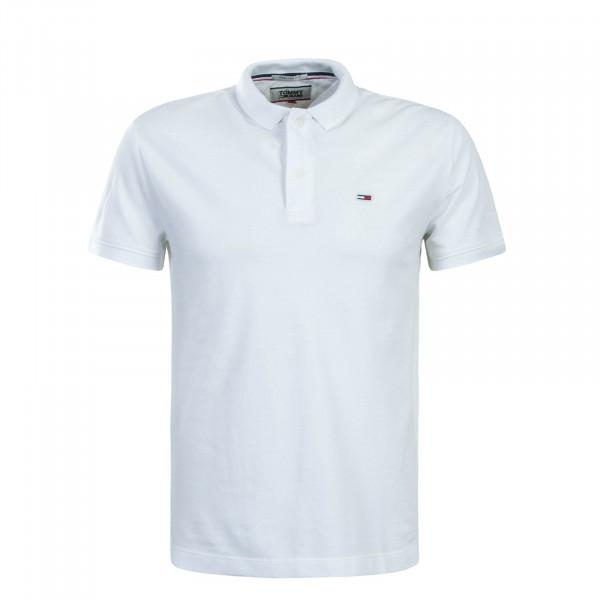 Herren Polo Classic Solid 6112 White