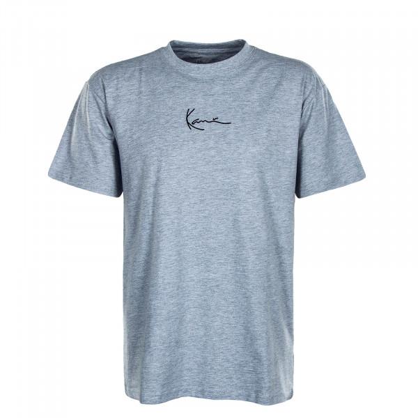 Herren T-Shirt - Small Signature - Grey / Black
