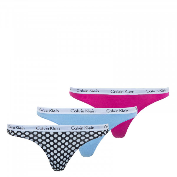 Damen Thong 3er-Pack Black Dot Blue Magenta