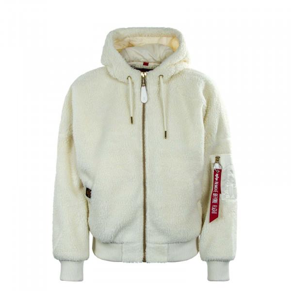 Damen Jacke - MA-1 OS Hooded Teddy - Off White