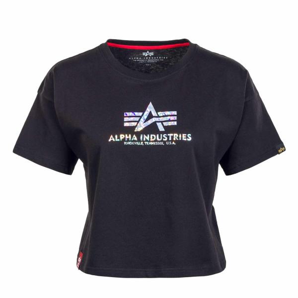 Damen T-Shirt - Basic COS Hol Print - Black / Silver