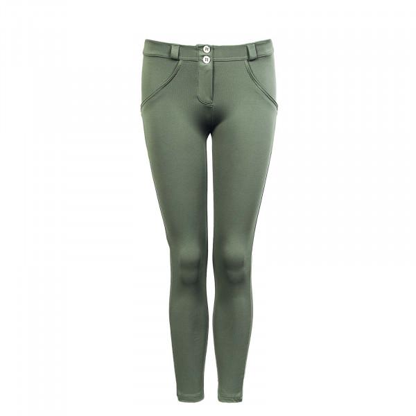 Damen Hose - Pantalone 7/8 WRUP4RC004 V69 - Olive
