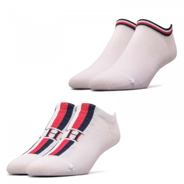 Tommy Socks 2P Iconic Stripe White