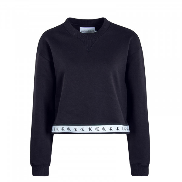 Damen Sweat Crop Monogram Tape 2598 Black