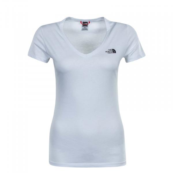 Damen T-Shirt Simple Dome White