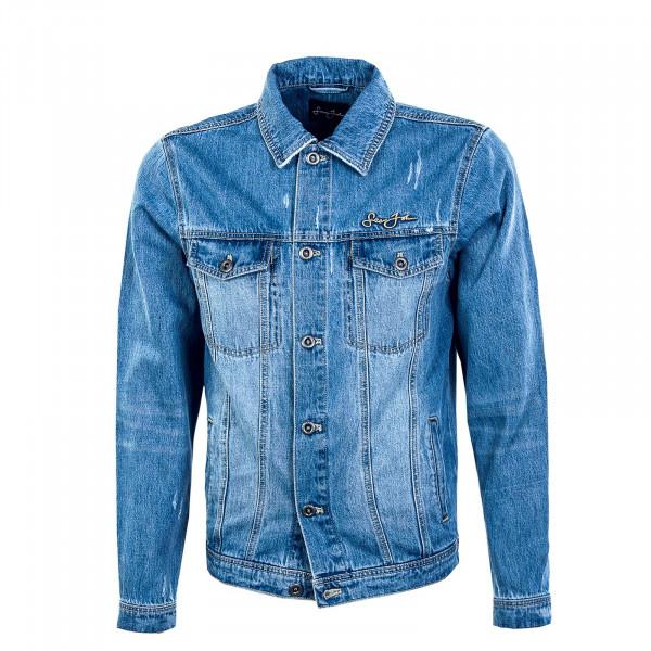 Herren Jeansjacke - Classic Logo Denim Jacket - Light Blue