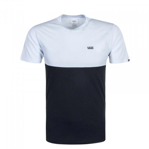 Herren T-Shirt Colorblock White Black