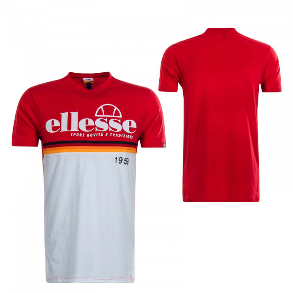 Herren T-Shirt Bresscia Red White