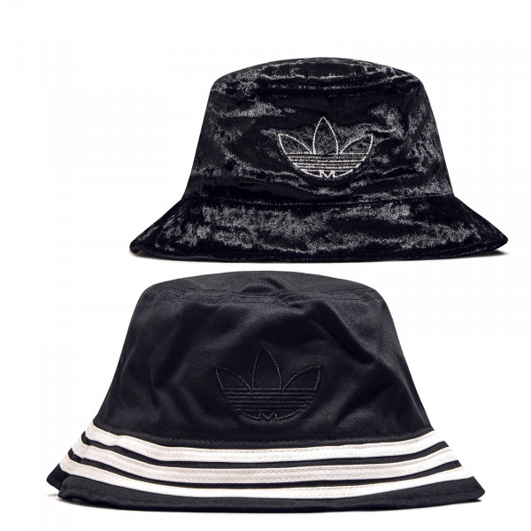 Herren Bucket Hat Velvet Black Samt