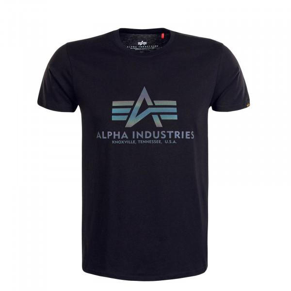 Herren T-Shirt - Basic Rainbow Reflective - Black