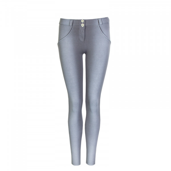 Damen Hose WR.UP® - Regular Waist Super Skinny - Faded Look - Grey - G360