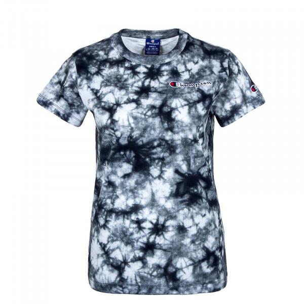 Damen T-Shirt - Crewneck 113939 - White / Allover / Black