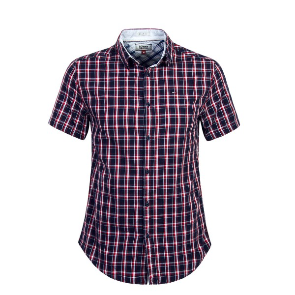 Tommy Hemd Check Navy Red