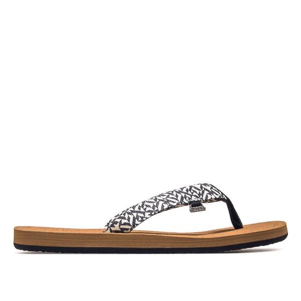 Damen Sandale - Woven Strap - Black White