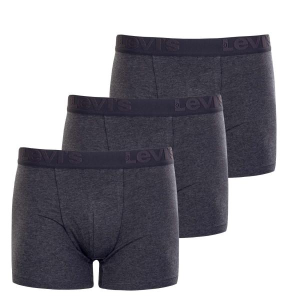 Herren Boxershort 3er Pack Premium Grey Melange