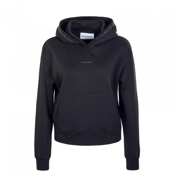 Damen Hoody - Logo Trim - Black