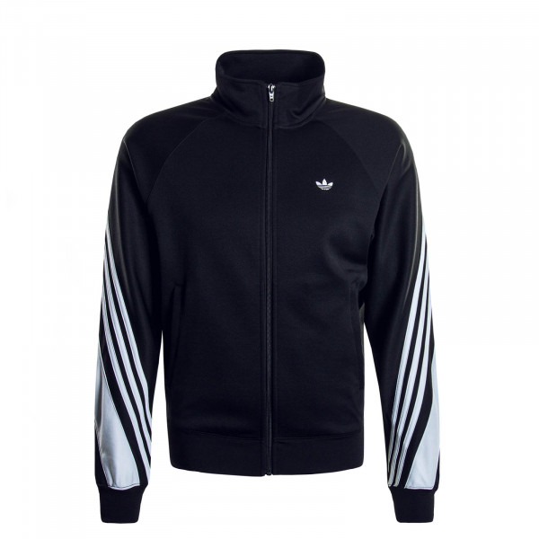 Herren Trainingsjacke 3 Stripe Wrap Black