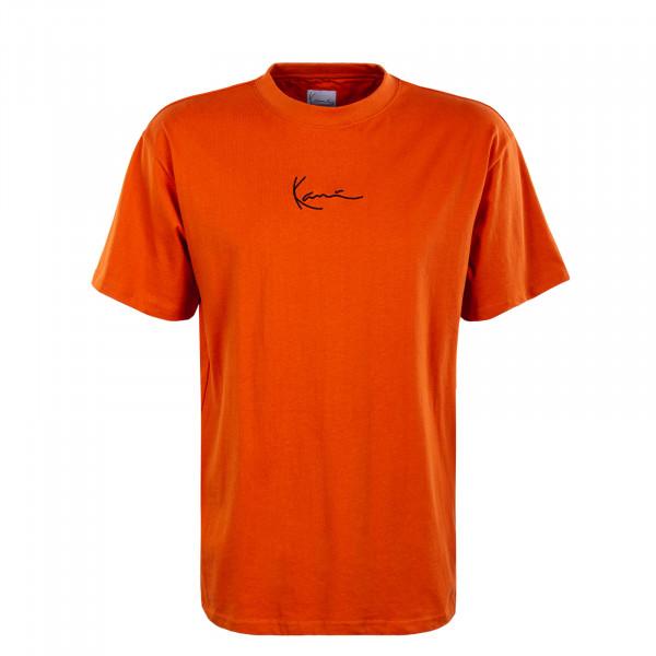 Herren T-Shirt - Small Signature - Dark Orange