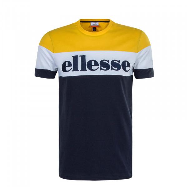 Herren T-Shirt Punto Navy Yellow White
