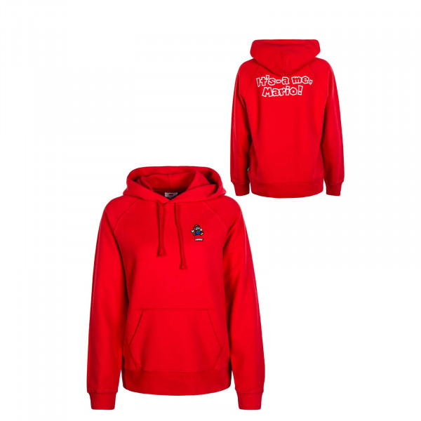Damen Hoody Graphic Mario Red