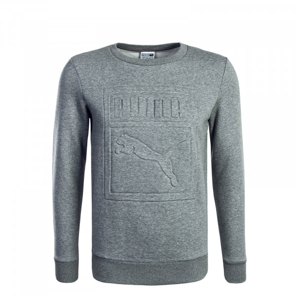 Puma Sweat Archive Embossed Logo Grey
