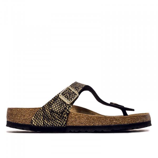 Damen Sandale - Gizeh MF Shiny Python - Black / schmale Weite