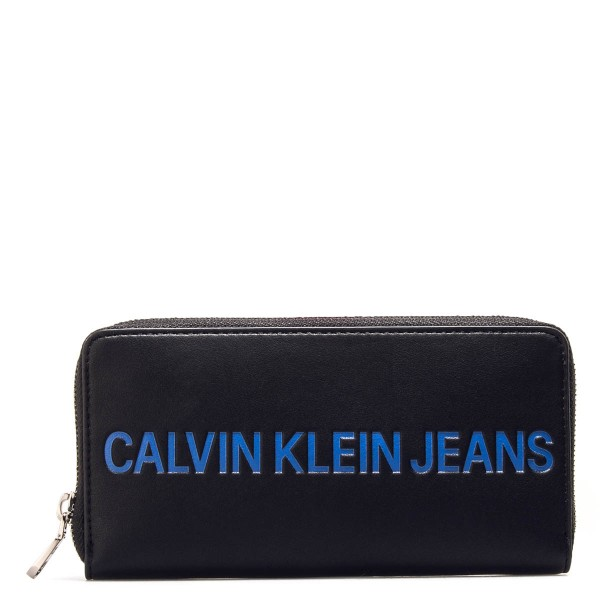 CK Wallet Sculpted Black Blue