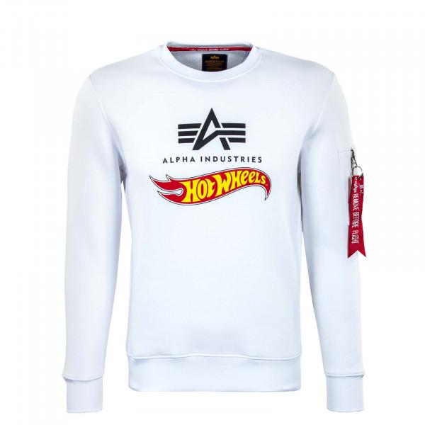 Herren Sweatshirt - Hot Wheels Flag - White