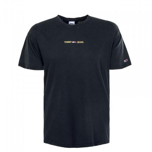 Herren T-Shirt - Metallic Linear 9586 - Black