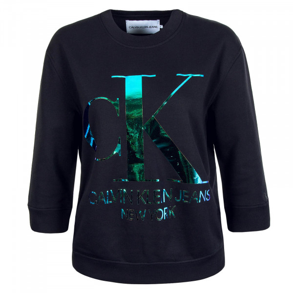 Damen-Sweatshirt Iridescent  Black