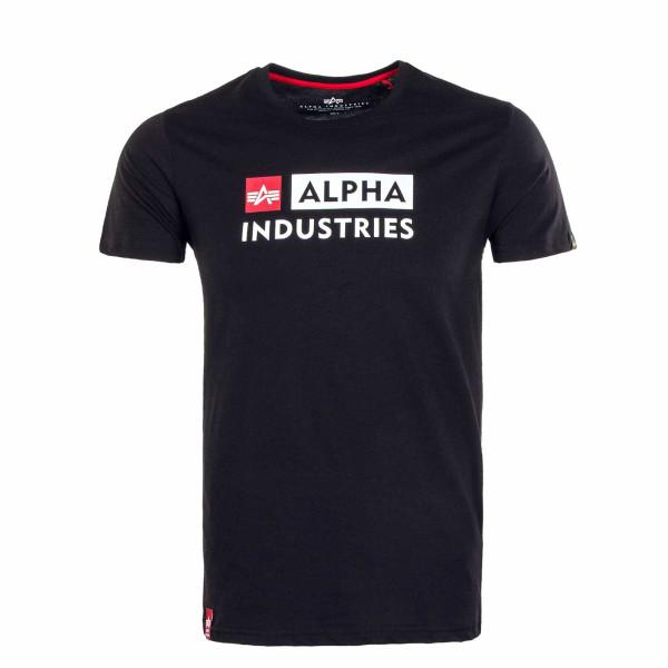 Herren T-Shirt - Alpha Block Logo - Black