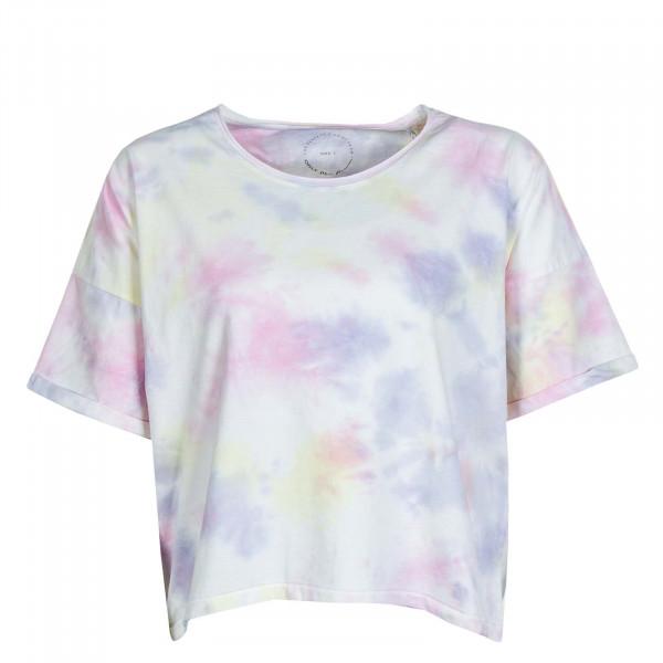 Damen T-Shirt Zoey Life Tie DYE DNM Tee White Tie