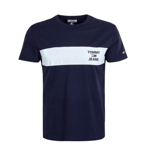 Herren T-Shirt 7858 Chest Stripe Navy White