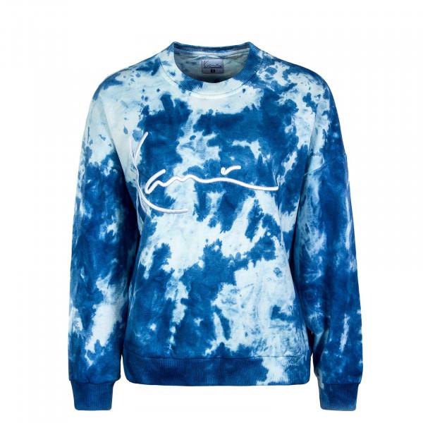 Damen Sweatshirt Signature Tie Dye Crew Blue