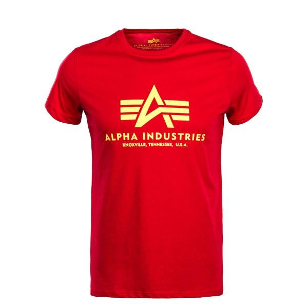 Herren T-Shirt Basic Red Yellow