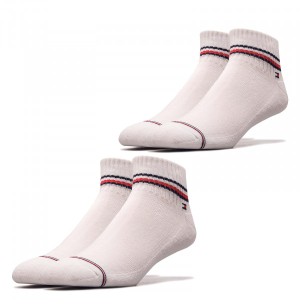 Socken TH Men Iconic Quarter 2er Pack White