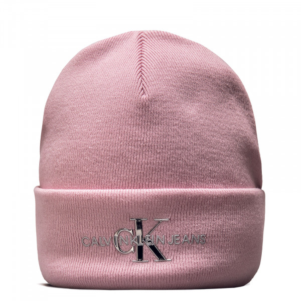 Beanie - Monogram - Pearly Pink / Silver
