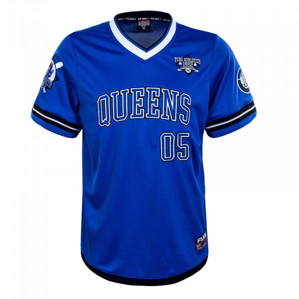 Herren T-Shirt - Athletics Queen Jersey - Blue / White / Black