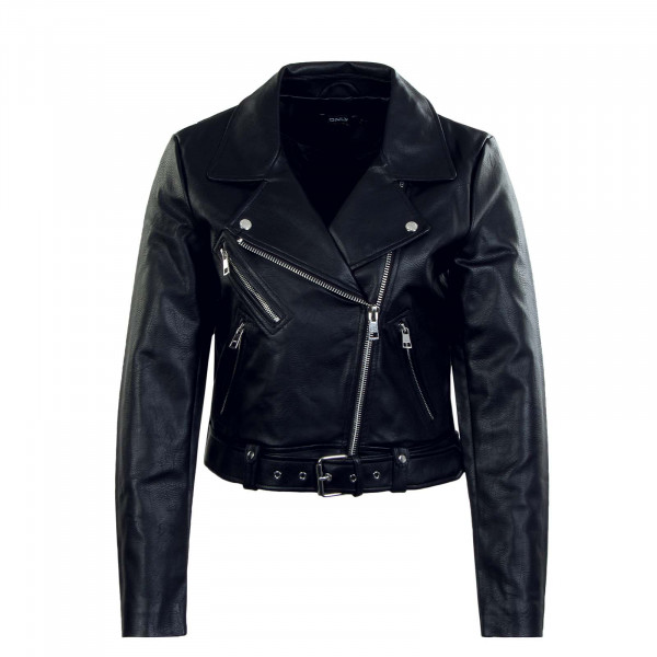 Damen Lederjacke - Vera Faux Leather Biker CC OTW - Black