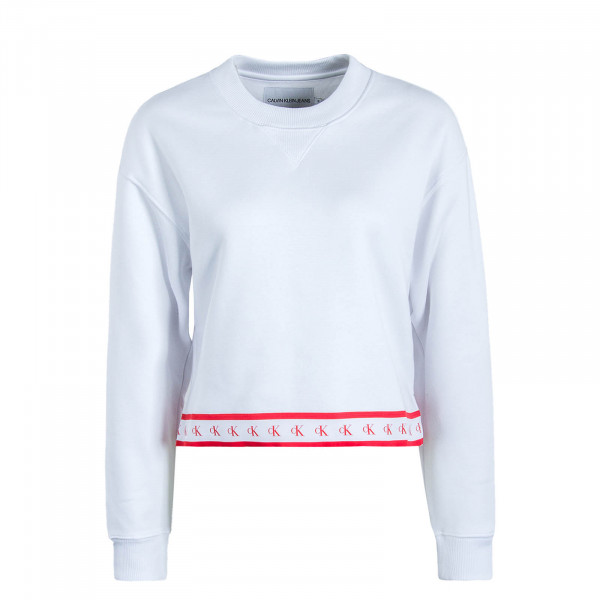 Damen Sweat Crop Monogram Tape 2598 White