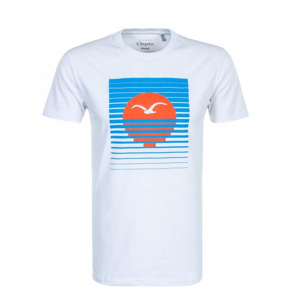 Herren T-Shirt Setting 2 White Blue