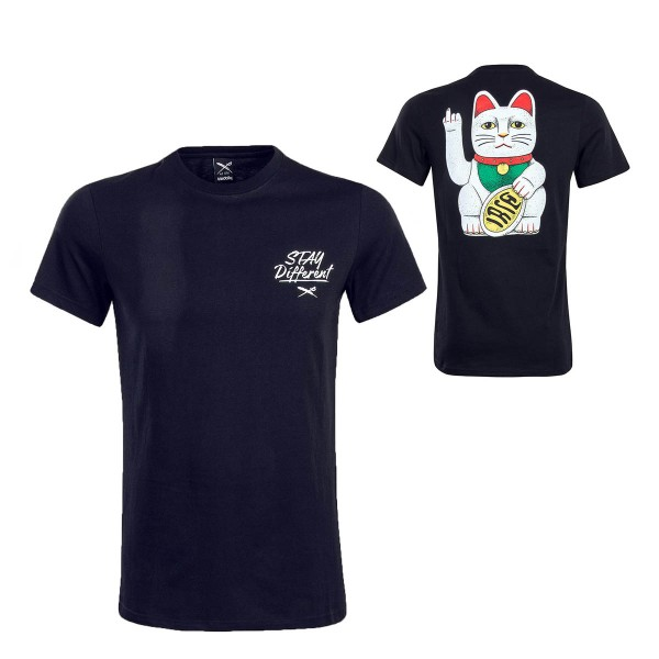 Herren T-Shirt - Bye Bye Cat - Black