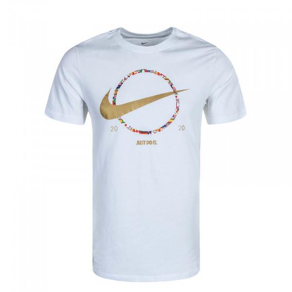 Herren T-Shirt NSW Preheat Swoosh White