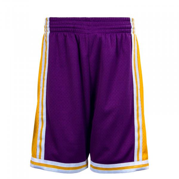 Herren Short - M&N NBA Swingman 2,0 LA Lakers - Purple