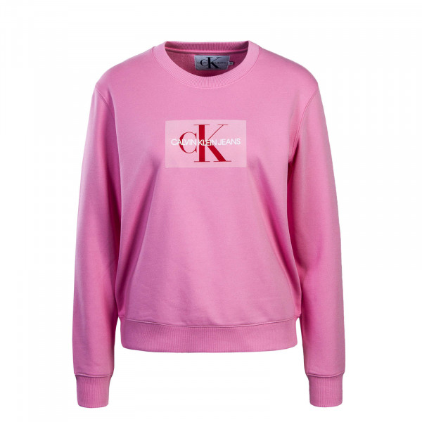 Damen Sweatshirt Monogram Flock Box Pink