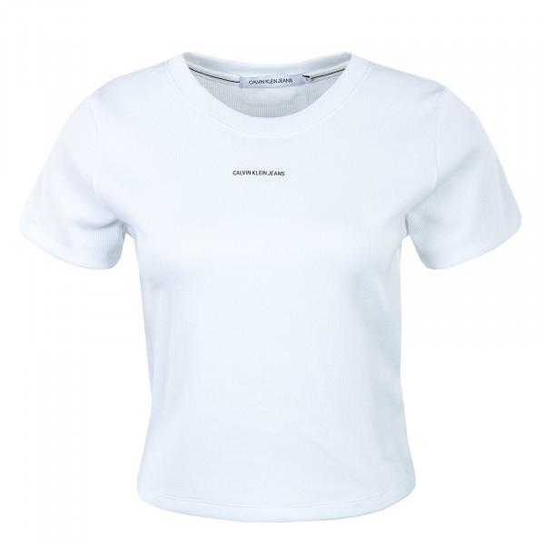 Damen T-Shirt - Micro Branding Crop 5699 - Bright White