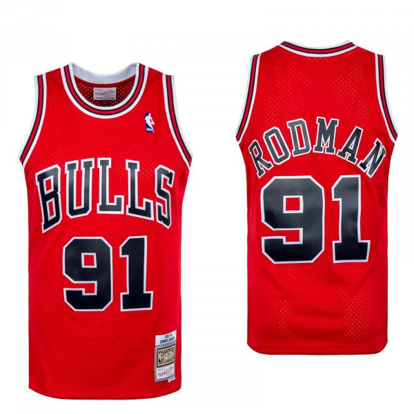 Herren Tank Top - NBA Swingman Jersey Chi Bulls D Rodm - red