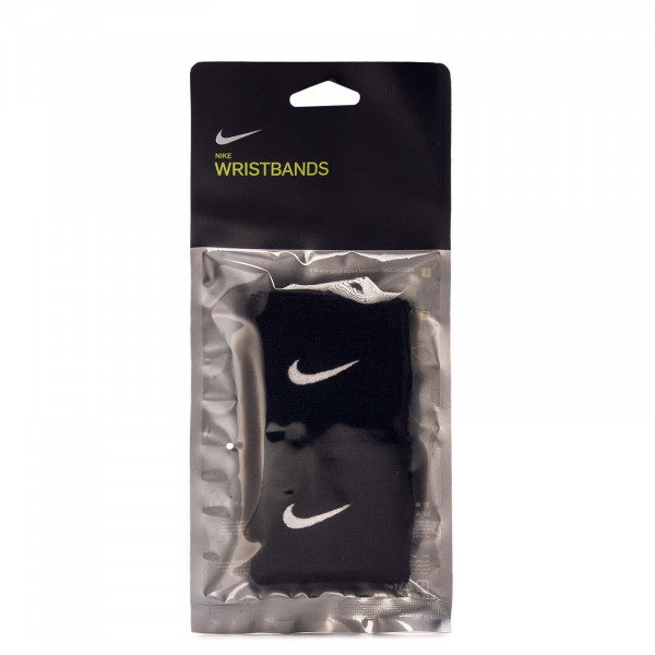 Swoosh Wristbands Black White
