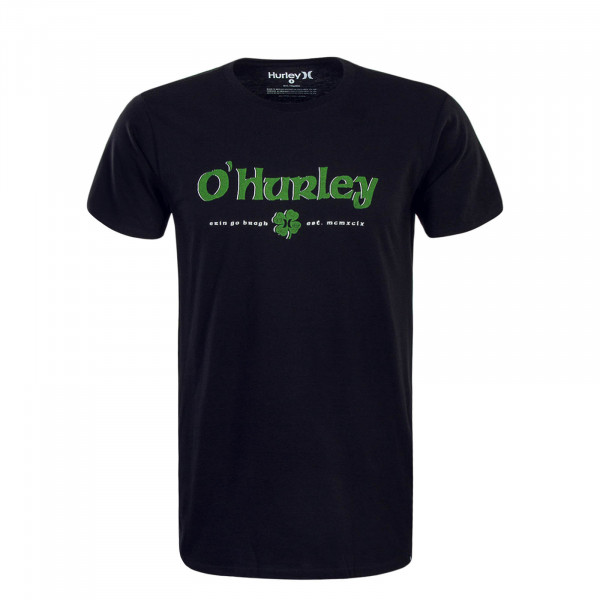 Herren T-Shirt O Hurley Black Green
