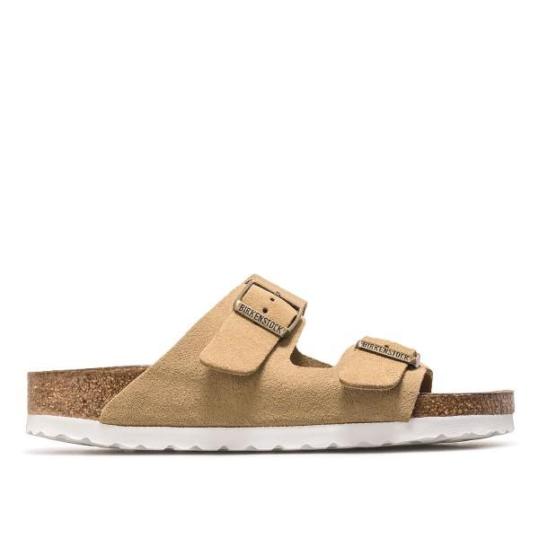 Damen Sandale - Arizona Velourleder - Sand / Schmale Weite